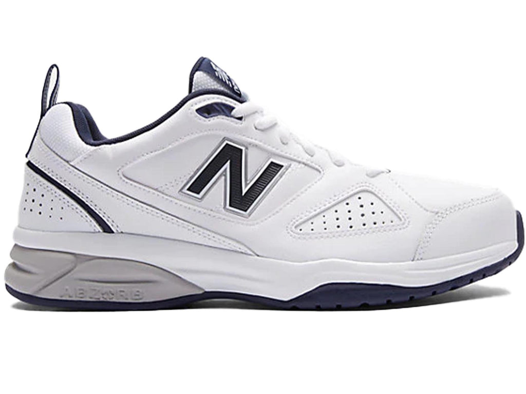 NEW BALANCE MENS 624 V4 WHITE/NAVY <br> MX624WN4