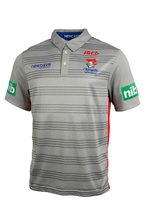 ISC NEWCASTLE KNIGHTS PLAYER POLO MENS <br> NK16POL2A,- Jim Kidd Sports