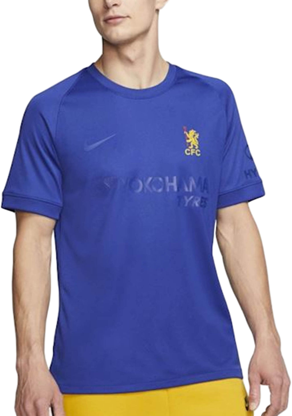 NIKE MENS 2020-21 CHELSEA FOOTBALL CLUB CUP JERSEY <BR> AQ9902 496