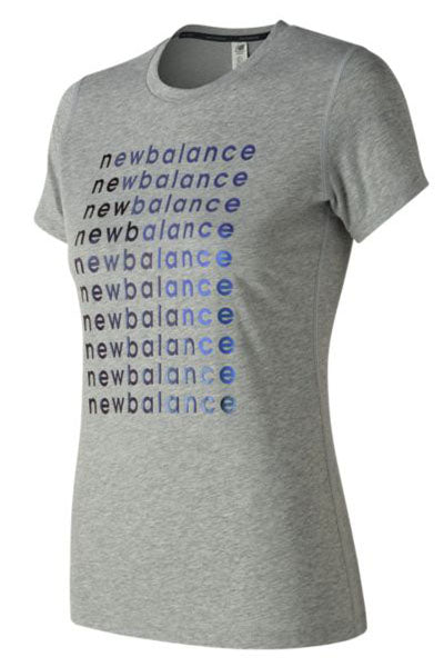 NEW BALANCE GRAPHIC HEATHER TECH TEE WOMENS <br> WT83144 AG