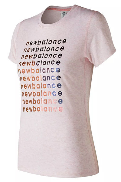 NEW BALANCE GRAPHIC HEATHER TECH TEE WOMENS <br> WT83144 HYP