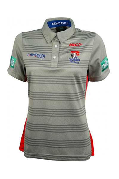 ISC NEWCASTLE KNIGHTS PLAYER POLO WOMENS <vbr> NK16POL2L,- Jim Kidd Sports