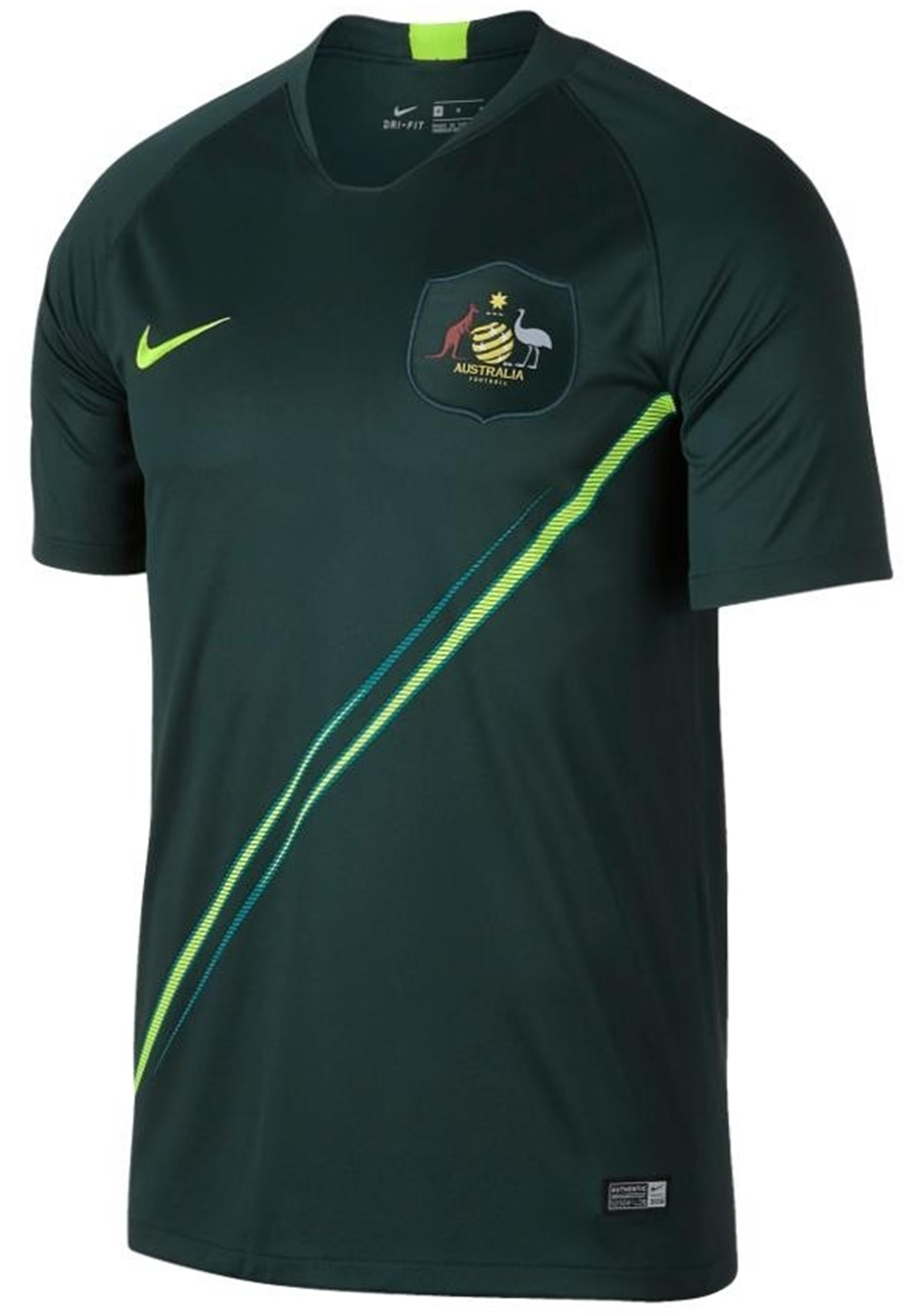 NIKE MENS SOCCEROOS 2018 STADIUM AWAY JERSEY <br> 893851 397