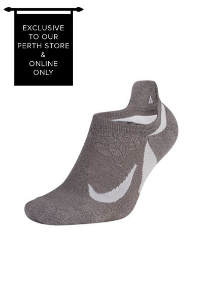 NIKE SPARK NO SHOW RUNNING SOCK UNISEX GREY <br> SX5462 036