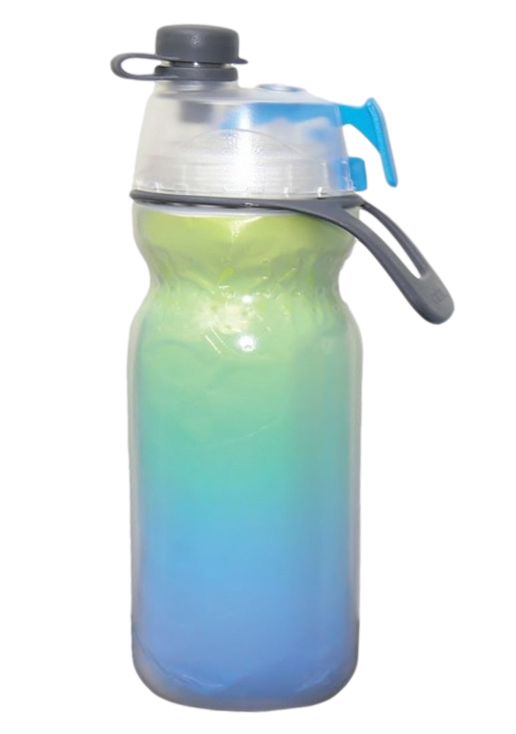 O2 COOL MIST N SIP INSULATED WATER BOTTLE 590ML <BR> HMLDPA1 GREEN BLUE FADE