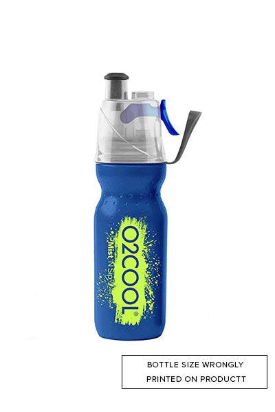 O2COOL MIST 'N SIP 600ML WATER BOTTLE BLUE WITH FREE FIDGET SPINNER<br> HMCSP06 SP5 (BLUE/YELLOW)