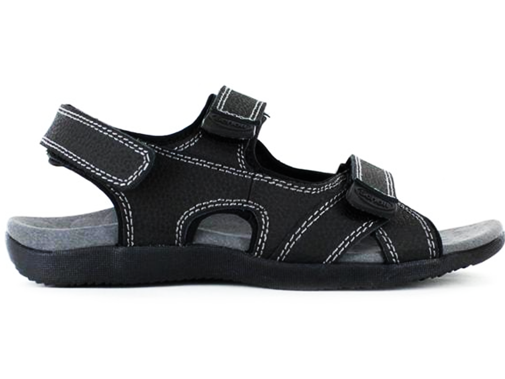 ORTHAHEEL MENS BELLS SANDAL <BR> BLACK