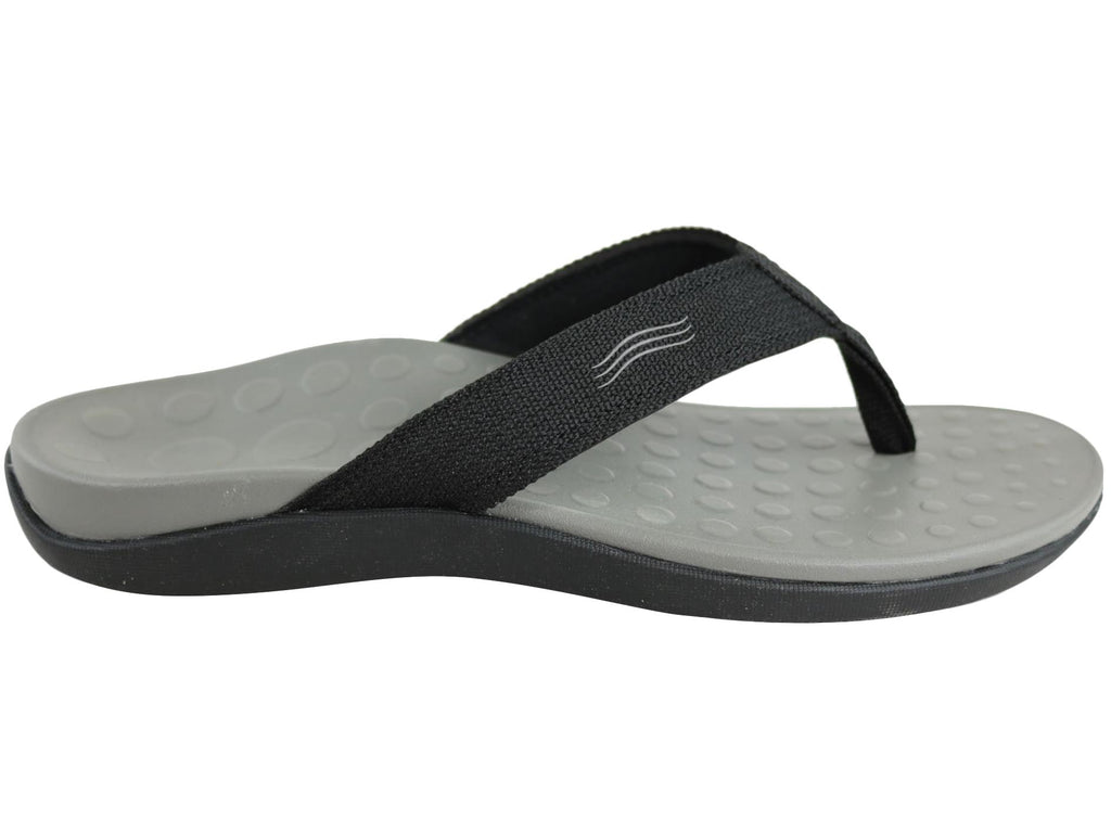 ORTHAHEEL MENS WAVE II THONGS IN BLACK <br> F252831004