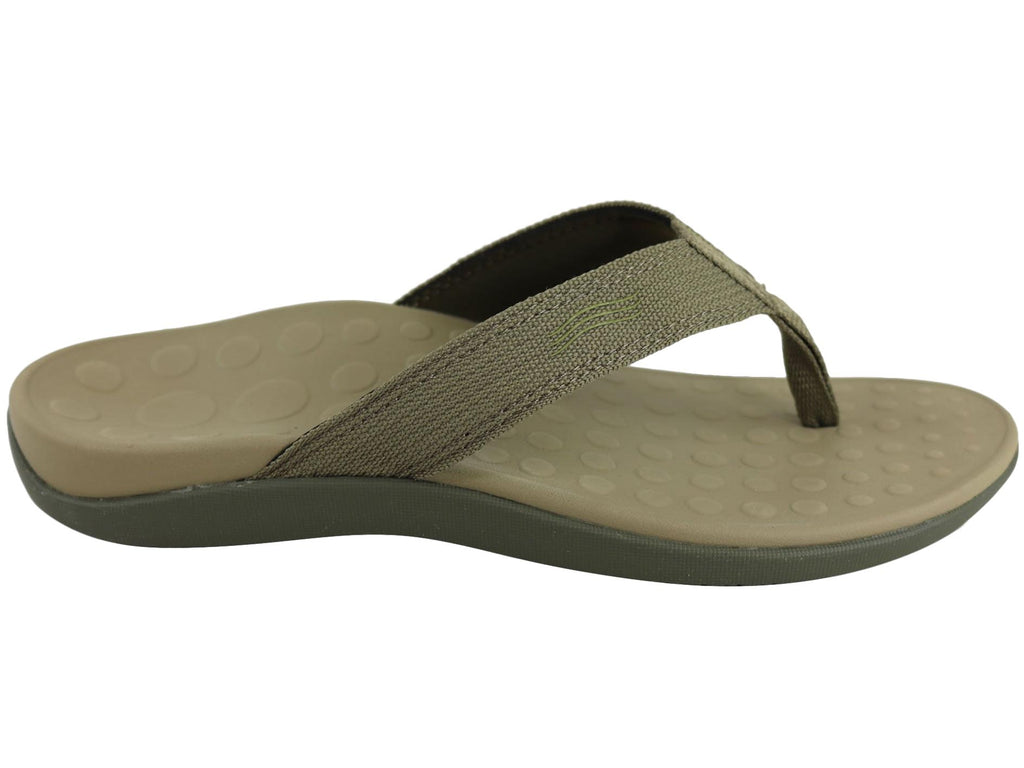 ORTHAHEEL MENS WAVE II THONGS IN KHAKI<br> F252831147