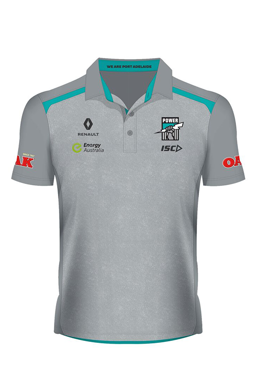 ISC PORT ADELAIDE PLAYERS POLO  <br> PA16POL3A,- Jim Kidd Sports