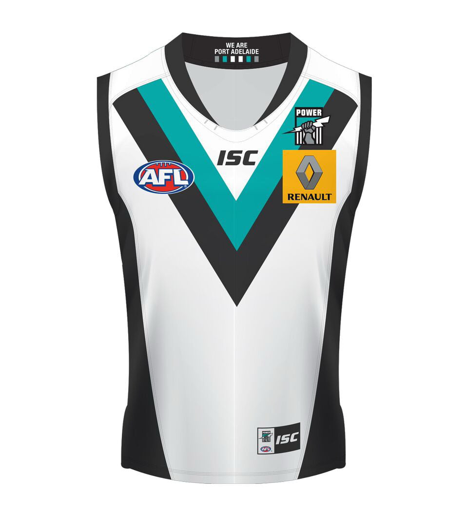 ISC PORT ADELAIDE POWER CLASH GUERNSEY MENS <br> 7PA5AJS1A,- Jim Kidd Sports