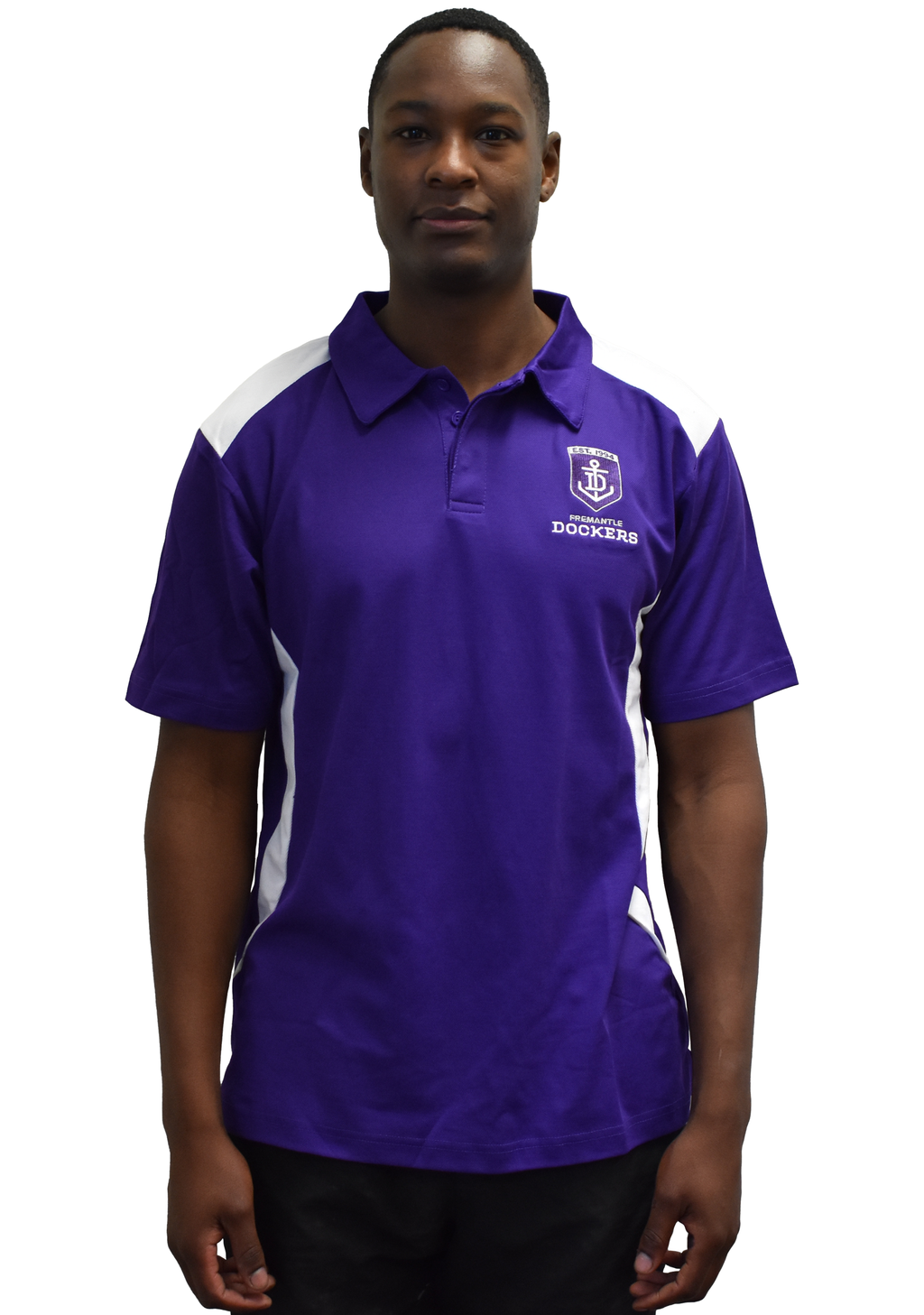 PLAYCORP MENS FREMANTLE DOCKERS POLO <br> 1025747FREMM