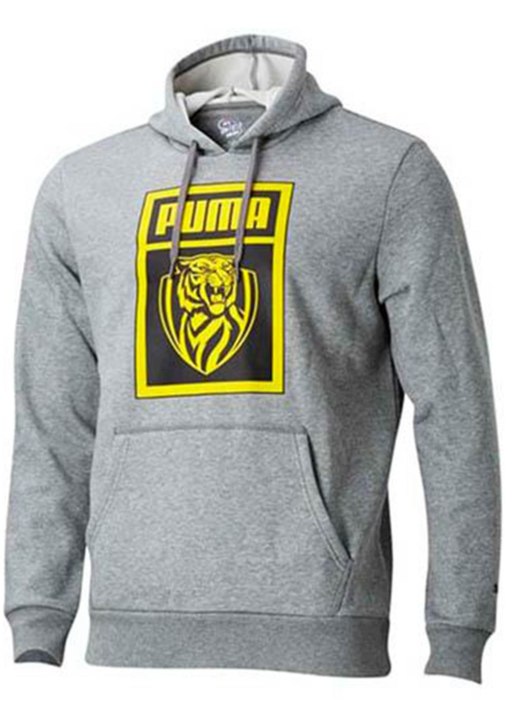 PUMA RICHMOND TIGERS FOOTBALL CLUB SHOE TAG HOODIE WOMENS GREY <br> 70387302