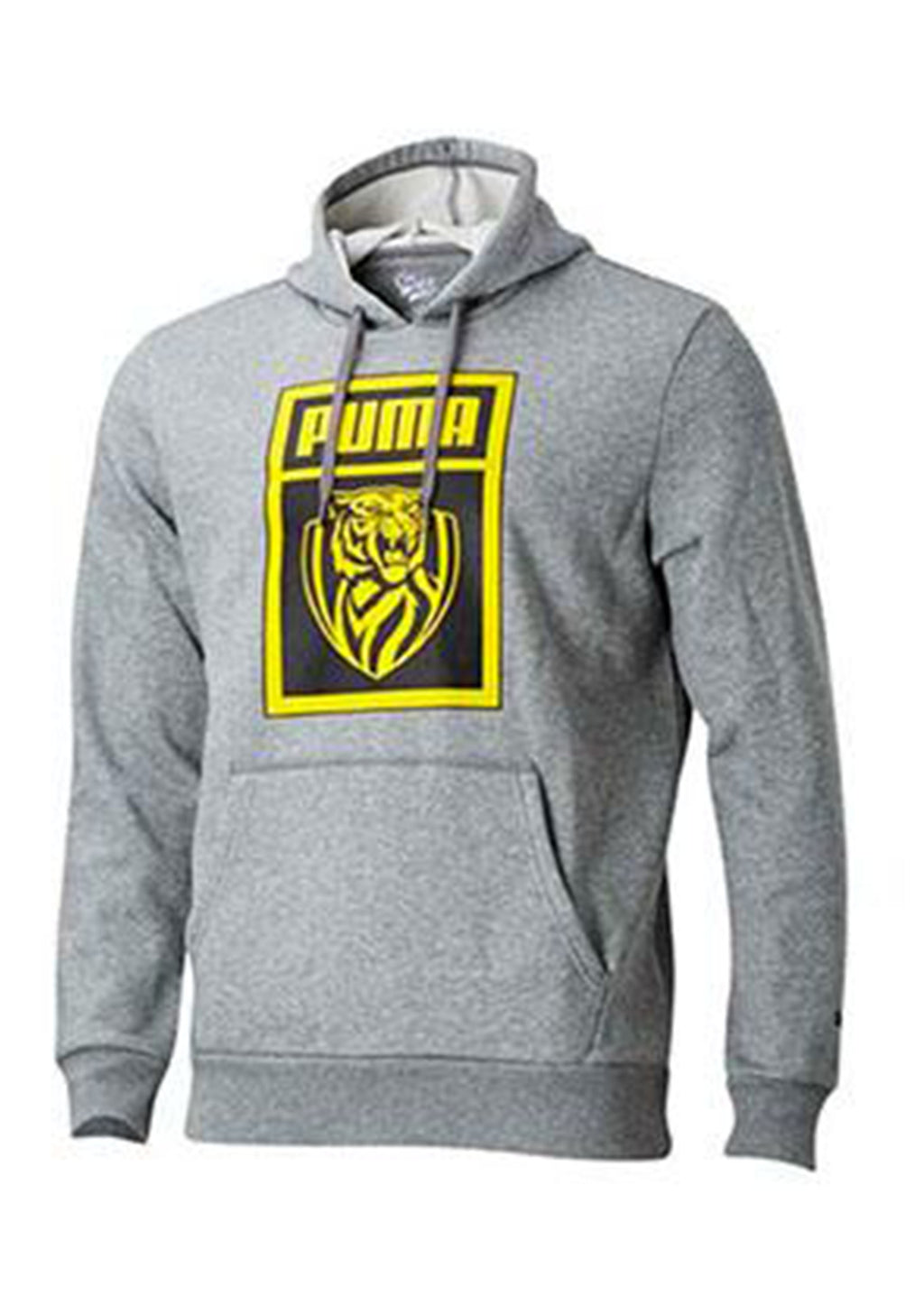 PUMA RICHMOND TIGERS FOOTBALL CLUB SHOE TAG HOODIE YOUTH MEDIUM GREY HEATHER <br> 70383702