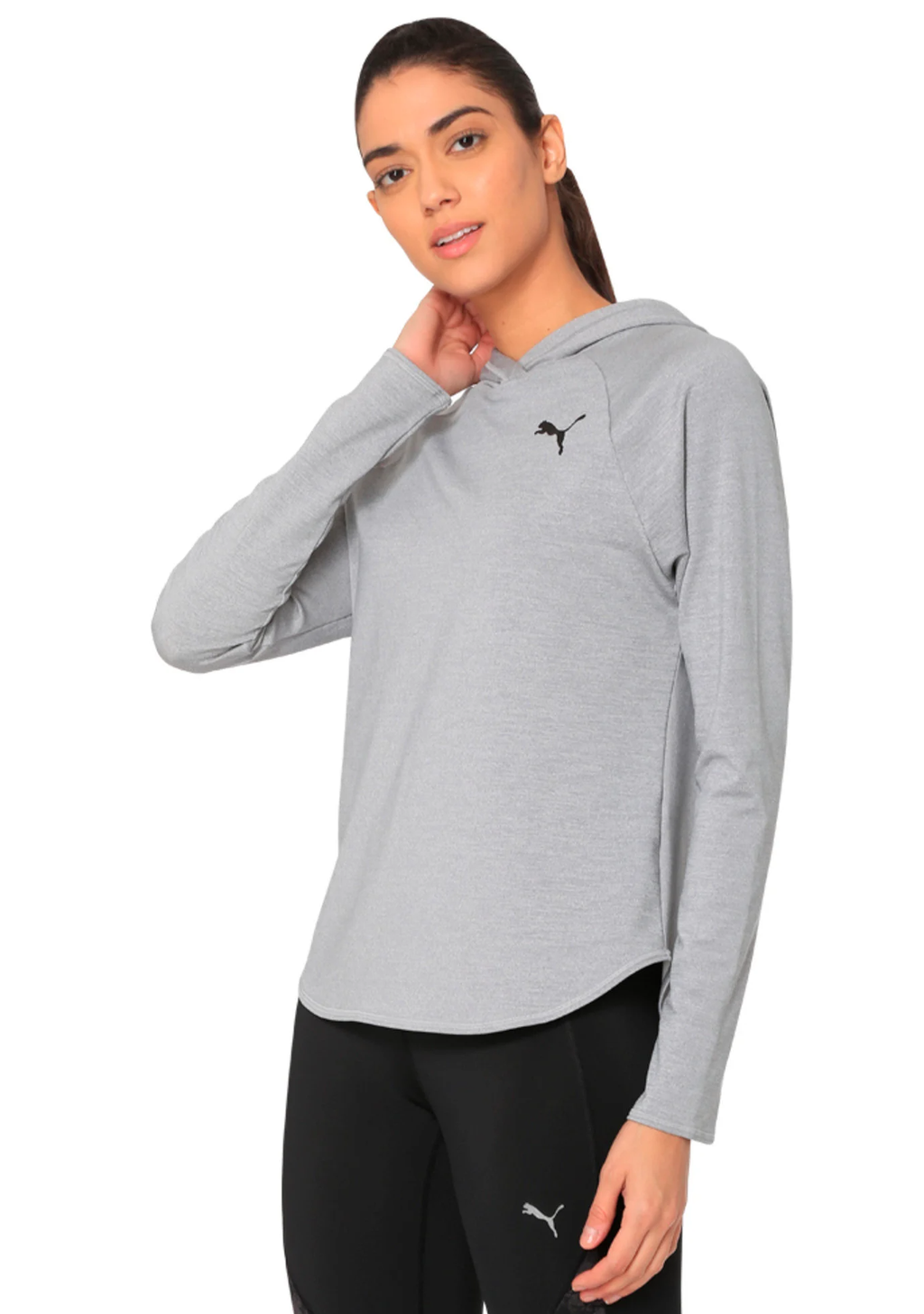PUMA WOMENS DRY-CELL ACTIVE HOODY LIGHT GREY <br> 851775 04