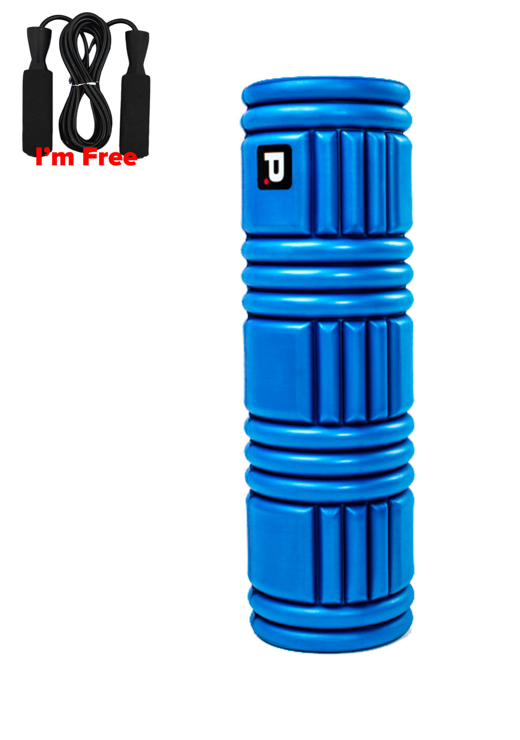 PERFECT FITNESS SOLID FOAM ROLLER 18 INCH THERAPY WITH FREE PVC JUMP ROPE<BR> 31159