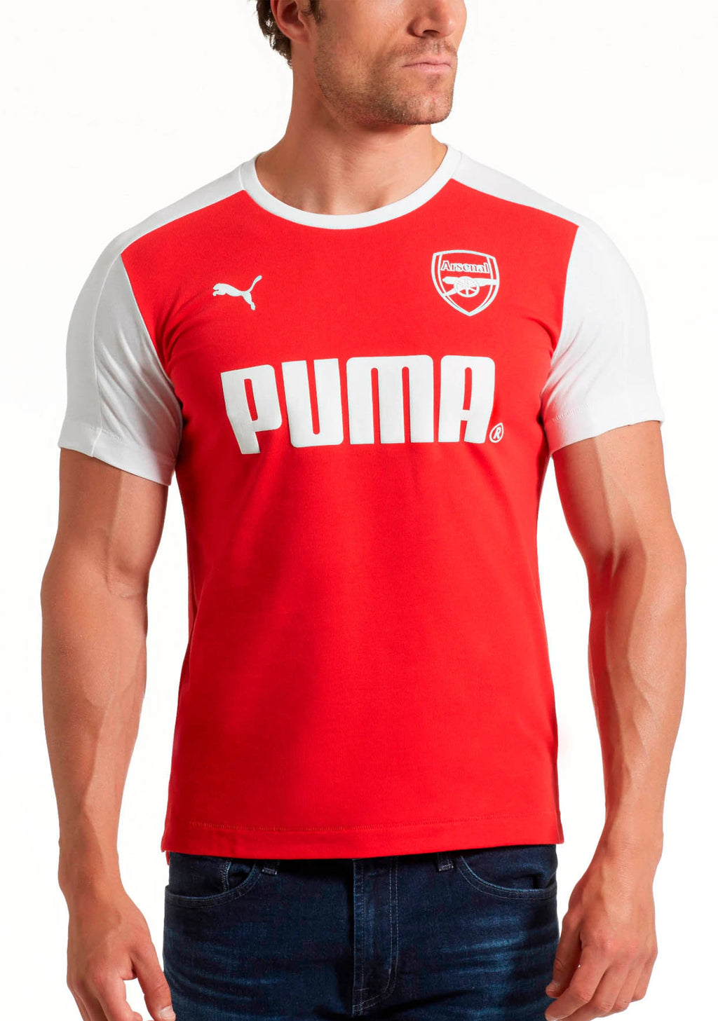 PUMA MENS ARSENAL FOOTBALL CLUB T SHIRT <BR> 751980