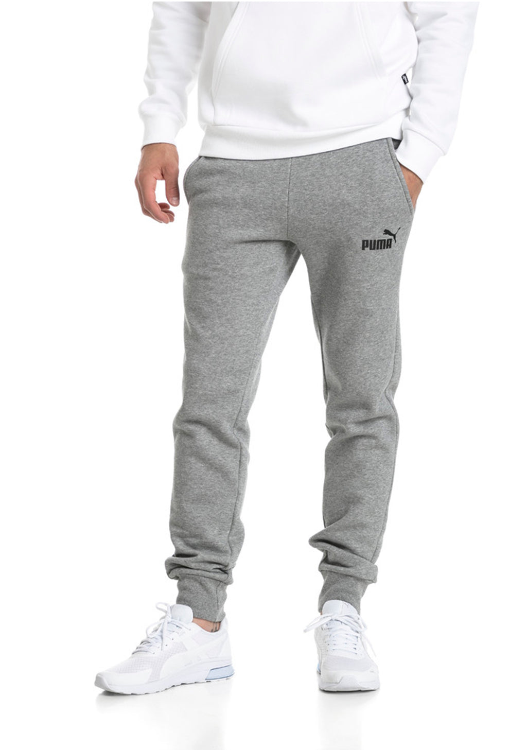 PUMA MENS FLEECE LOGO SWEAT PANTS <BR> 851753