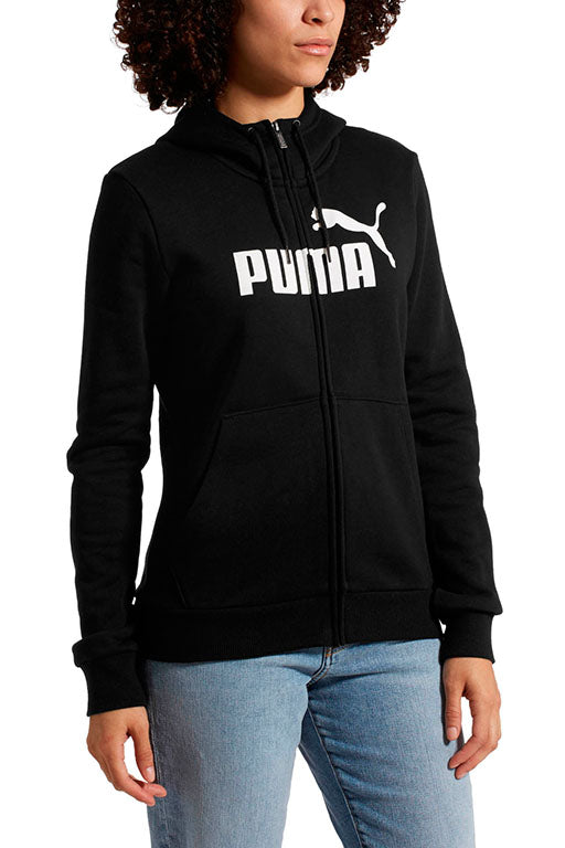 PUMA ESSENTIALS FLEECE HOODED FULL ZIP SWEAT JACKET WOMENS <br> 851811 01