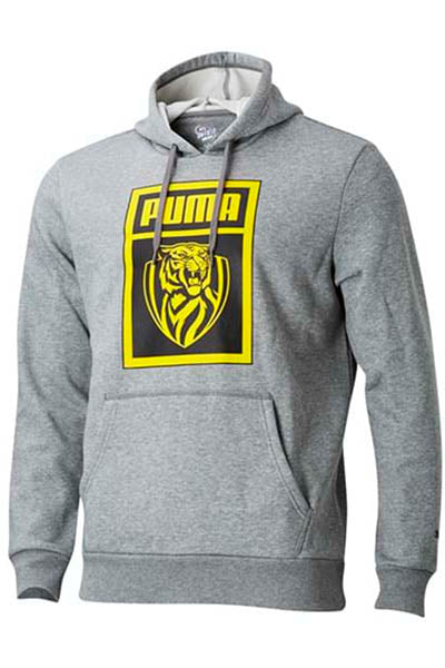 PUMA RICHMOND TIGERS FOOTBALL CLUB SHOE TAG HOODIE MENS <br> 703837021