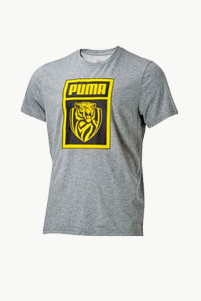 PUMA RICHMOND TIGERS FOOTBALL CLUB SHOE TAG TEE JUNIOR GREY <BR> 703787 02