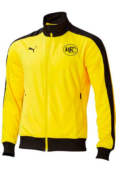 PUMA RICHMOND TIGERS FOOTBALL CLUB T7 JACKET MENS VIBRANT YELLOW <br> 70378602