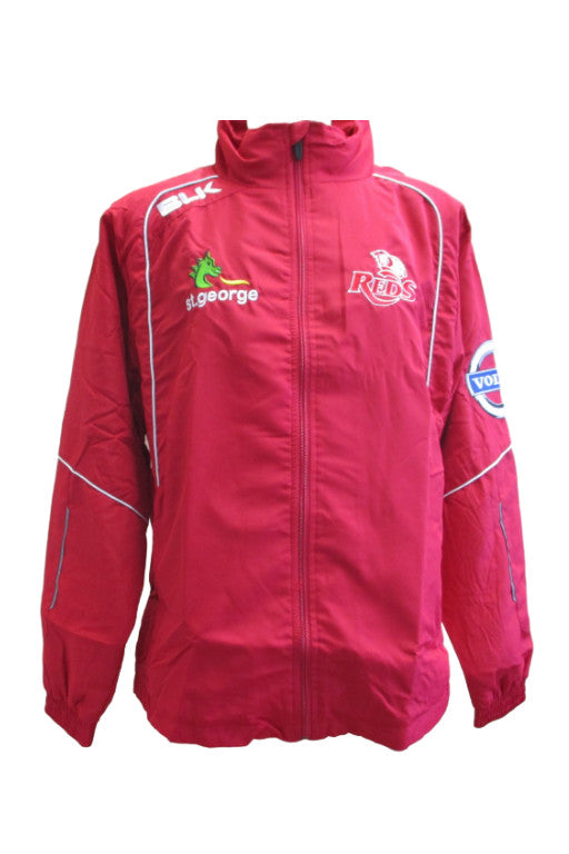 BLK QUEENSLAND REDS FULL ZIP DRY JACKET MENS <br> QRJK315RED,- Jim Kidd Sports