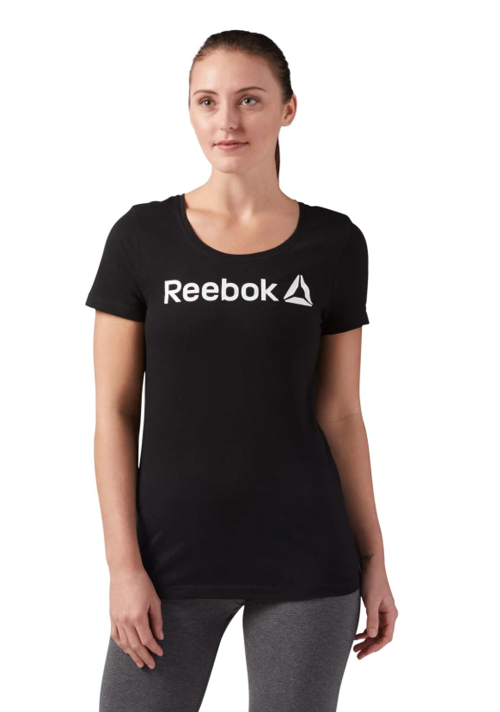 REEBOK CLASSIC WOMENS LINEAR READ SCOOP NECK TEE <BR> CF4455