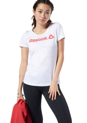 REEBOK WOMENS LINEAR READ SCOOP NECK TEE <BR> EC2027