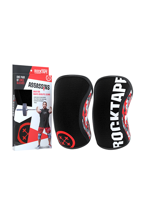 ROCKTAPE ASSASSINS KNEE SLEEVES RED CAMO,- Jim Kidd Sports
