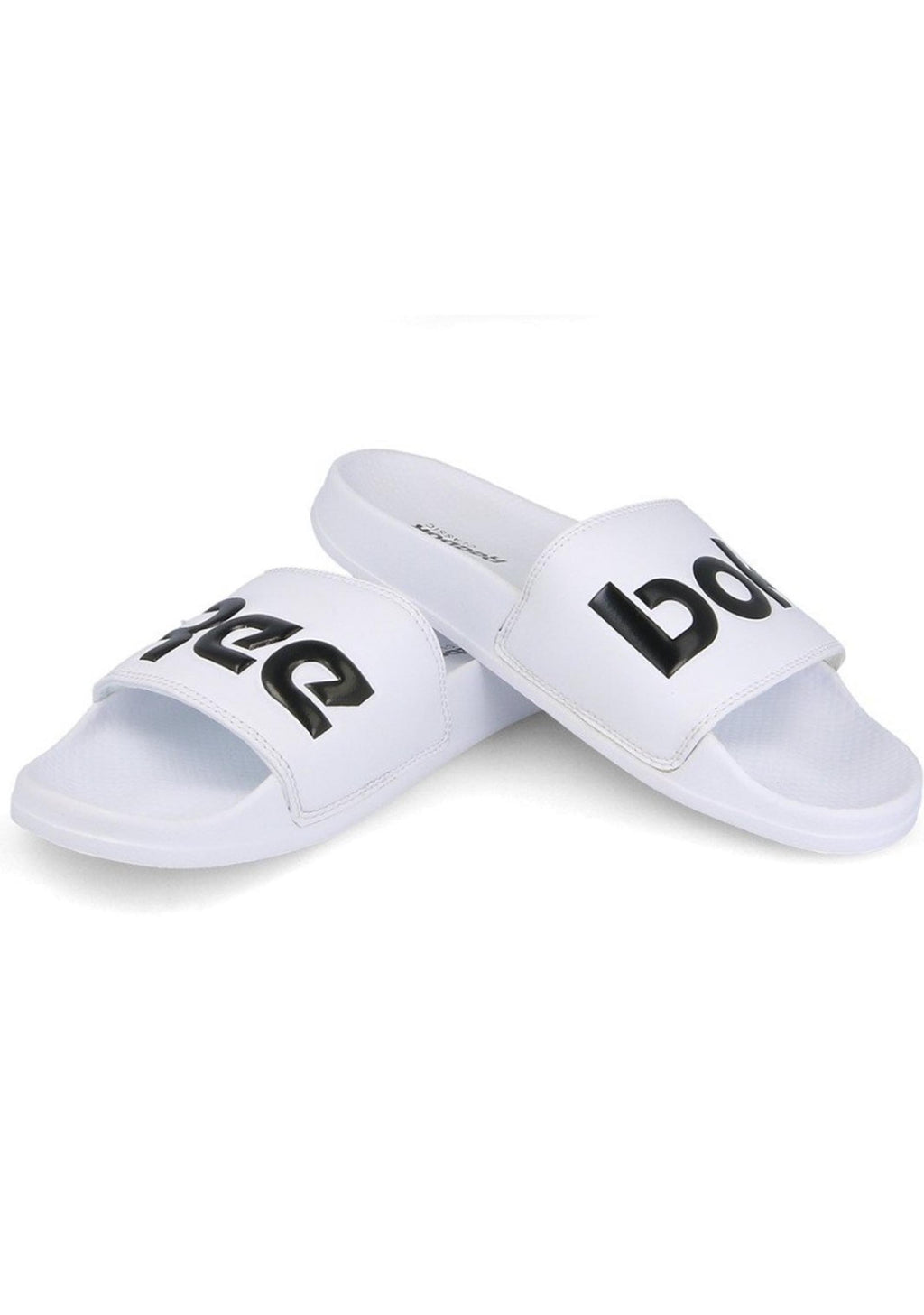 REEBOK WHITE CLASSIC SLIDES UNISEX WITH FREE 650ML WATER BOTTLE <br> CN0736