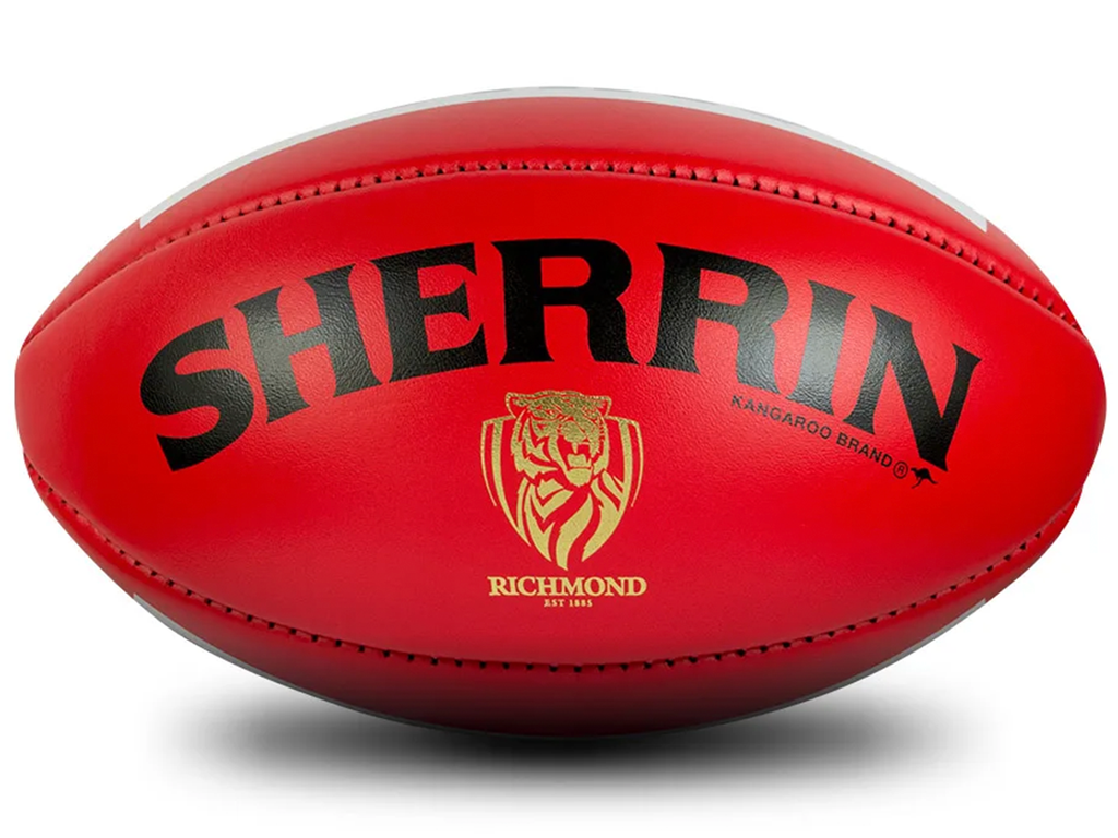 SHERRIN RICHMOND TIGERS OFFICAL GAME BALL <br> SLIGHTLY BLEMISHED