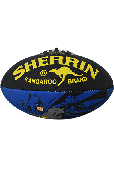 SHERRIN BATMAN SYNTHETIC FOOTBALL <br> 4231BATMAN,- Jim Kidd Sports