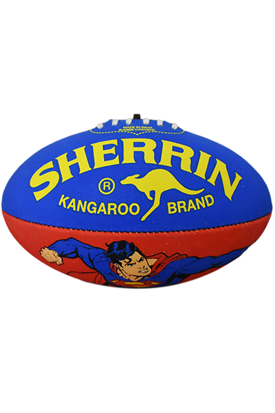 SHERRIN SUPERMAN SYNTHETIC FOOTBALL <br> 4231SUPERMAN,- Jim Kidd Sports