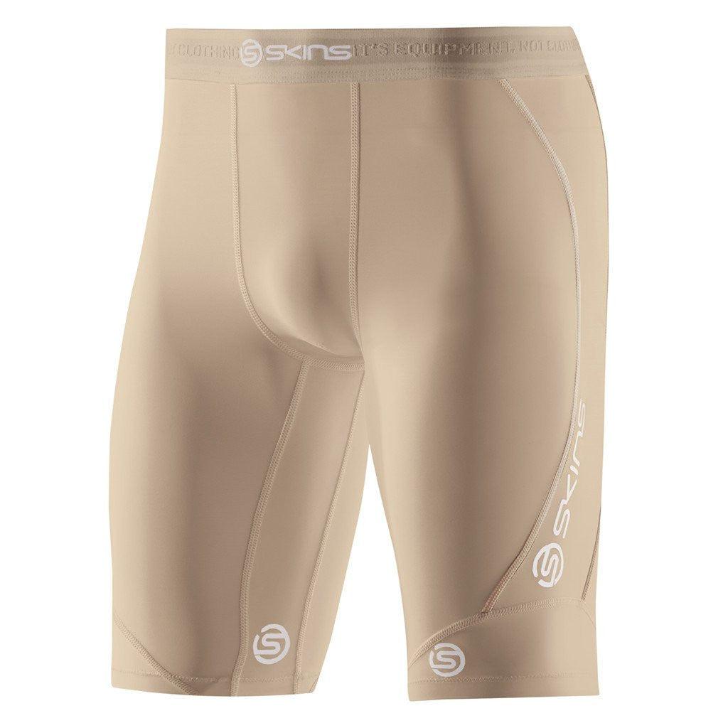 Kids Compression Shorts Skins Dnamic Half Tights Skin Colour