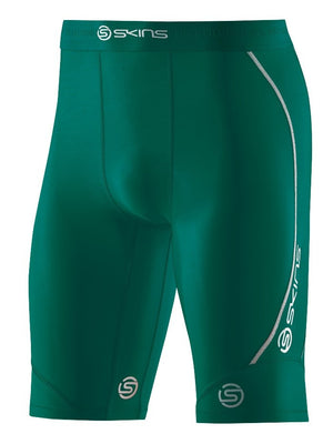 Kids Compression Shorts Skins Dnamic Half Tights Green