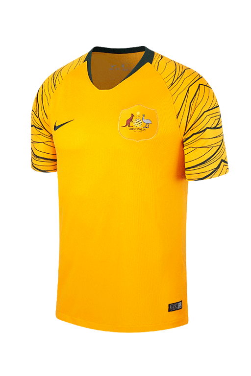 NIKE SOCCEROOS BREATHE AUSTRALIA STADIUM HOME JERSEY 2018 <br> 893852 739,- Jim Kidd Sports