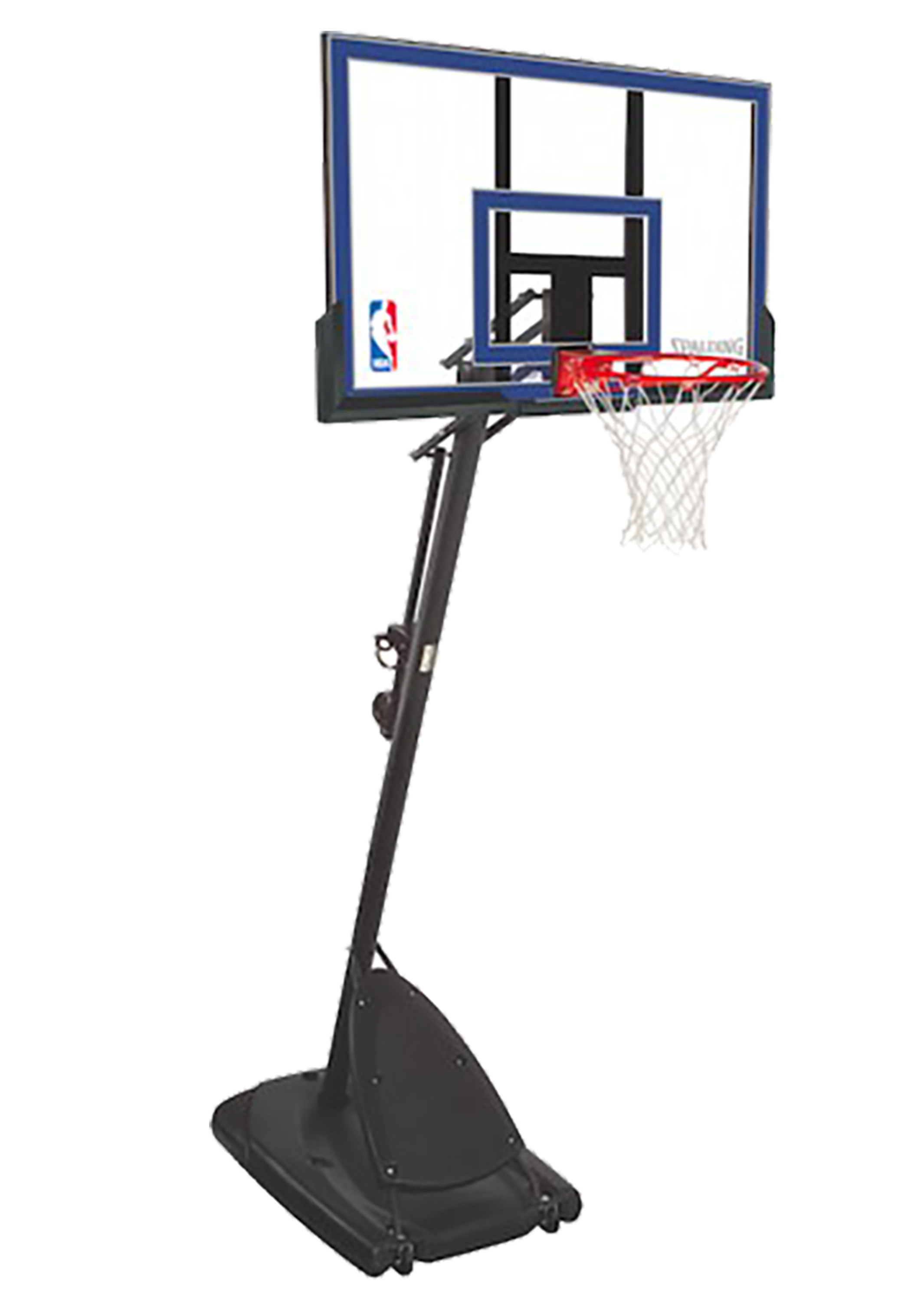 SPALDING 50 INCH ACRYLIC PORTABLE BASKETBALL SYSTEM <br> 50INCH image