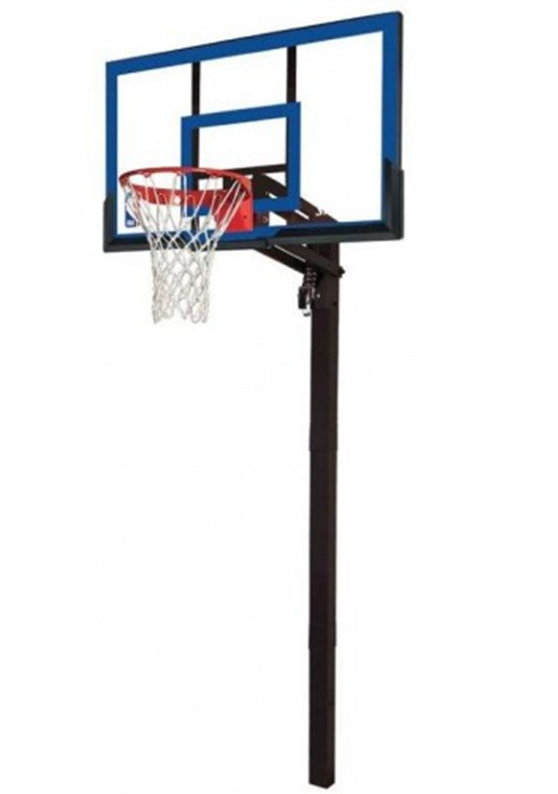 SPALDING 50 INCH NBA ACRYLIC IN GROUND BASKETBALL SYSTEM SQUARE POLE