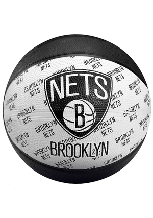 SPALDING BROOKLYN NETS OUTDOOR RUBBER NBA BASKETBALL <br> 6017-NET