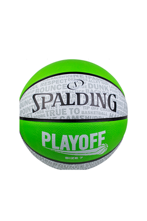 SPALDING PLAYOFF BASKETBALL WITH 2 FREE SPALDING HIGH BOUNCE BALLS <br> 5090,- Jim Kidd Sports
