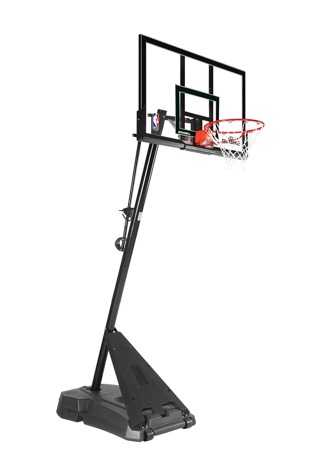 SPALDING 52 INCH ACRYLIC HERCULES PORTABLE BASKETBALL SYSTEM )<br> SP52HERCR