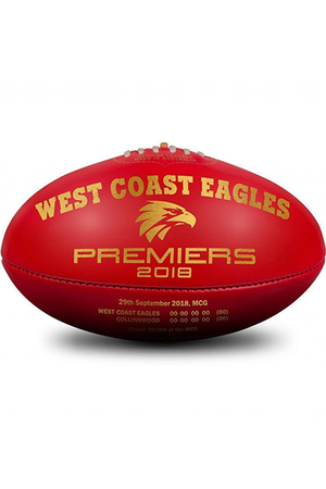 SHERRIN BLEMISHED WEST COAST EAGLES PREMIERSHIP 2018 FOOTBALL <br> 4116/CIB