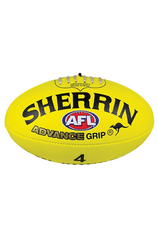 SHERRIN ADVANCE GRIP FOOTBALL YELLOW <br> 4242