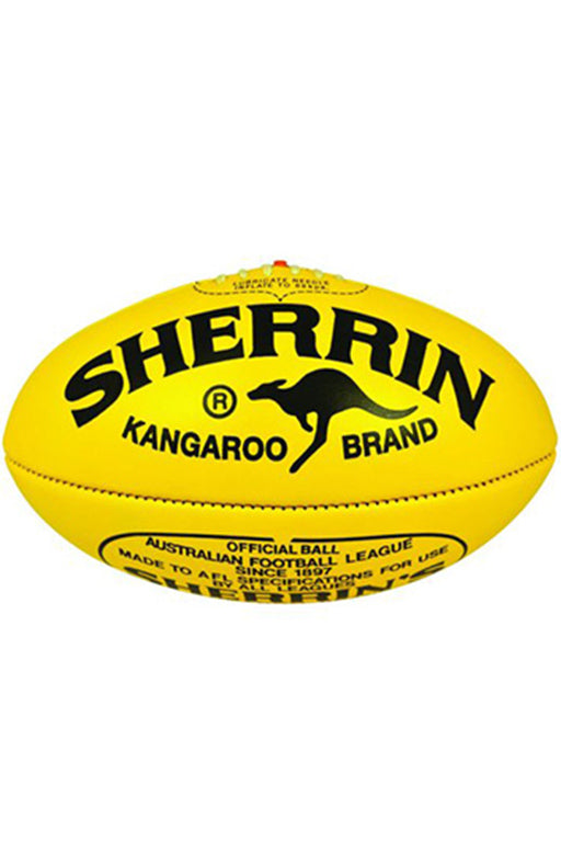 SHERRIN KB KANGAROO BRAND AUSTRALIAN RULES FOOTBALL YELLOW
