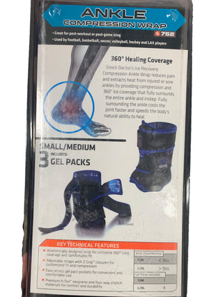 SHOCK DOCTOR ICE RECOVERY COMPRESSION - ANKLE WRAP <BR> 752
