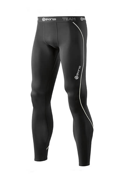 SKINS DNAMIC TEAM MENS LONG TIGHTS BLACK <br> SDB00010019001