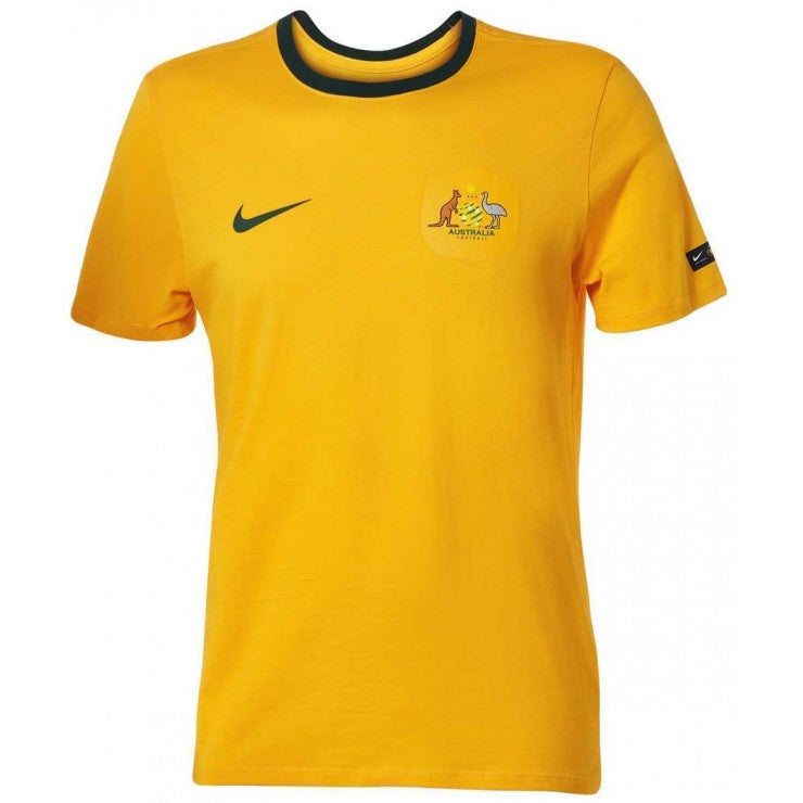 NIKE MENS SOCCEROOS GOLD SUPPORTER FOOTBALL TEE 2018<br> 888318 739