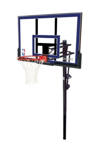 SPALDING 50 INCH ACRYLIC IN GROUND BASKETBALL SYSTEM ROUND POLE <br> SP50IGBBS
