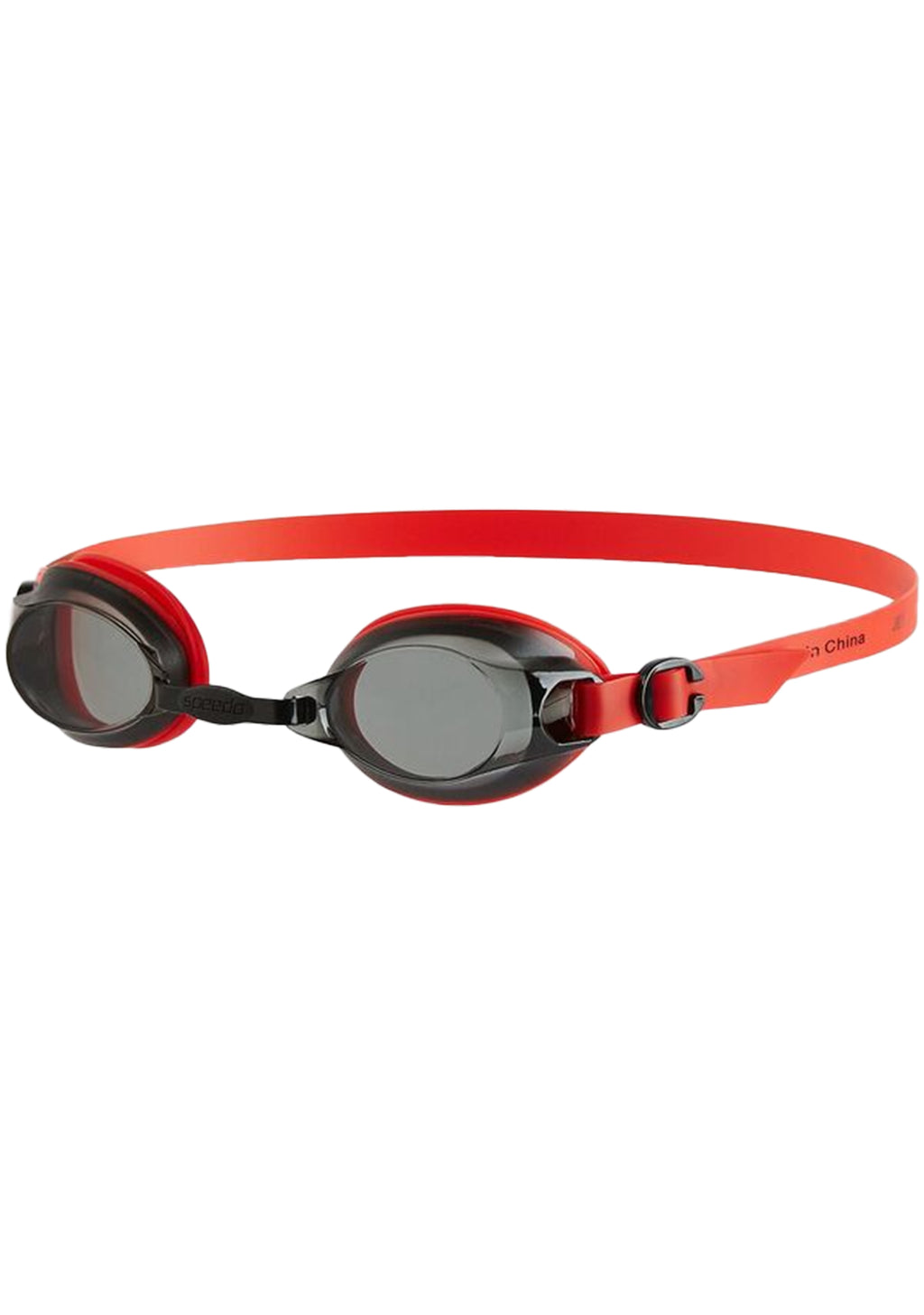 SPEEDO ADULTS JET GOGGLES LAVA RED/SMOKE <BR> 8 09297C101RS